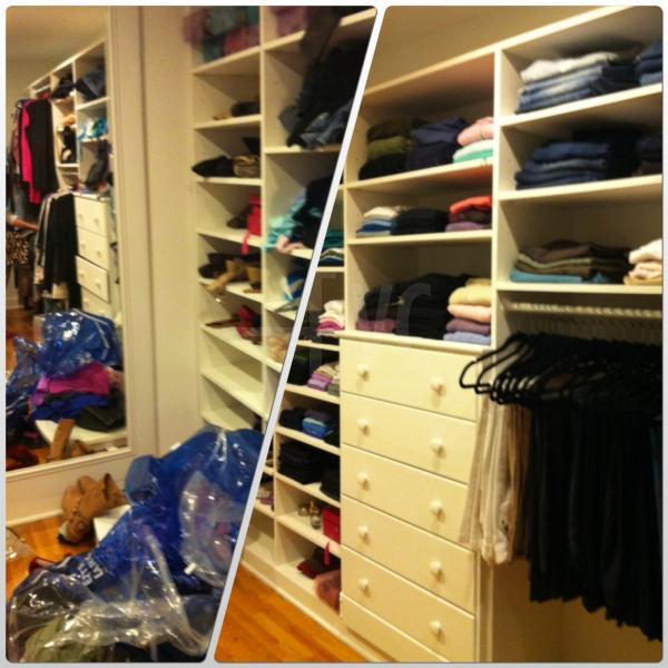 Organização de closets